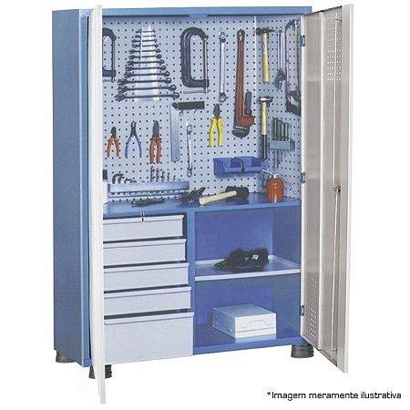 Armário industrial para ferramentas c/ 01 prateleira, 05 gavetas e porta em aço AM-13 MARCON
