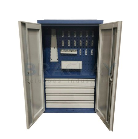 Armário Industrial de Parede para Ferramentas c/ 04 gavetas BRA-10204