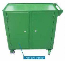 Carrinho industrial c/ 02 portas BRA-1023