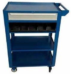 Carrinho industrial c/ 01 gaveta e caixa organizadoras BIN  BRA-1038