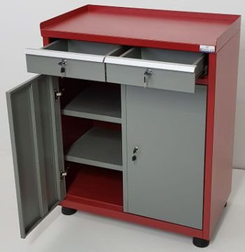 Gabinete Industrial c/ 02 gavetas e 02 Portas BRA-GAV10508 Braclay