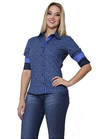 Camisa Gnose Estampa Mini Floral Azul