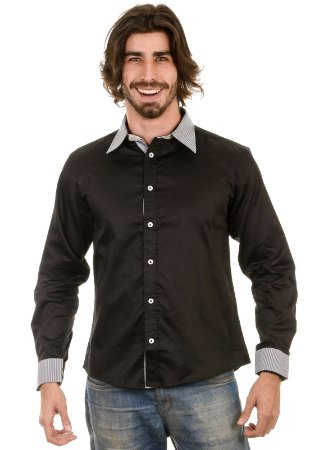 Camisa Navy Slim Fit