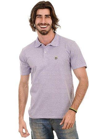 Camisa Gola Polo Fio Tinto Lilas