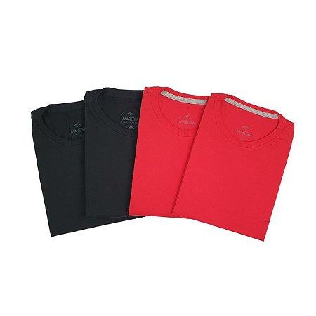Kit com 4 Camisetas Básicas GG