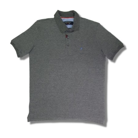 Camisa Polo Raffer Piquet Cinza