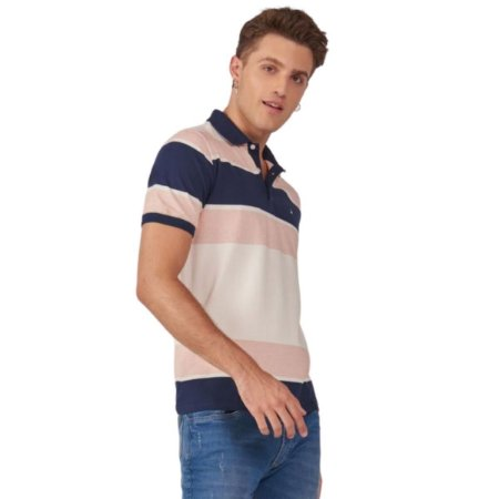 Camisa Polo Raffer Fio Tinto