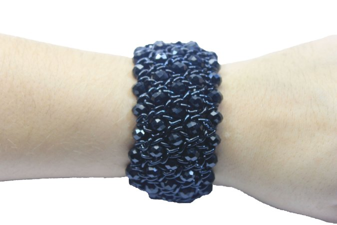 Bracelete  Brilhoso Preto