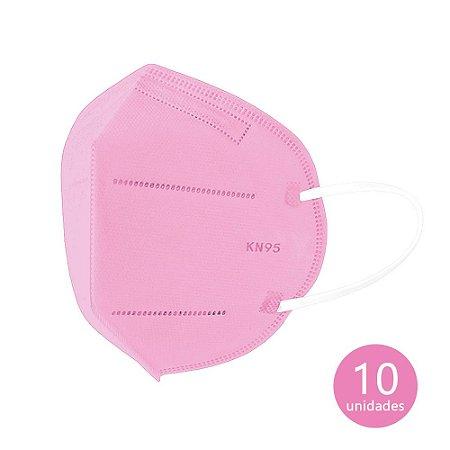 Máscara de Proteção KN95 Rosa com 10 un. Ailia