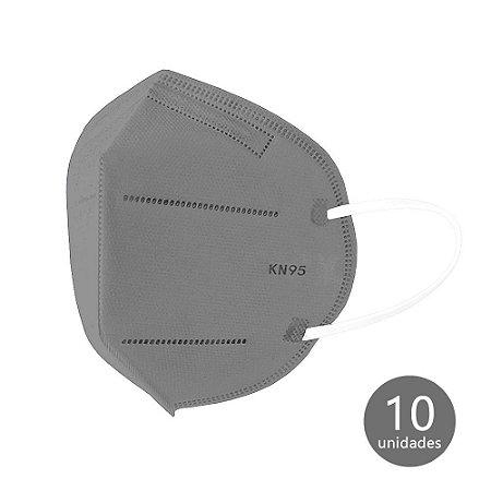 Máscara de Proteção KN95 Cinza com 10 un. Ailia