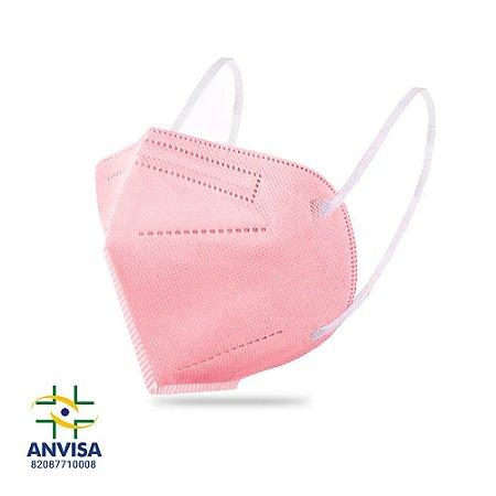 Máscara de Proteção KN95 Rosa - Unidade - LifeProtect