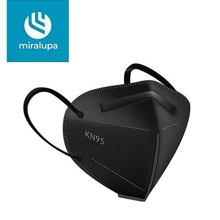 Máscara de Proteção KN95 Preta Unidade Miralupa