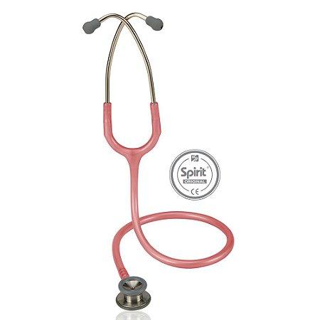 Estetoscópio Professional Pediátrico Rosa Perolizado Spirit