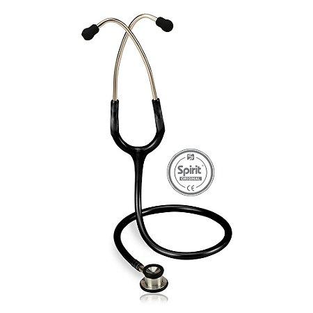 Estetoscópio Professional Neonatal Preto Spirit