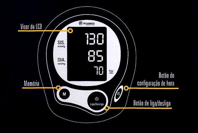 APARELHO DE PRESSÃO DE PULSO MP100 INCOTERM