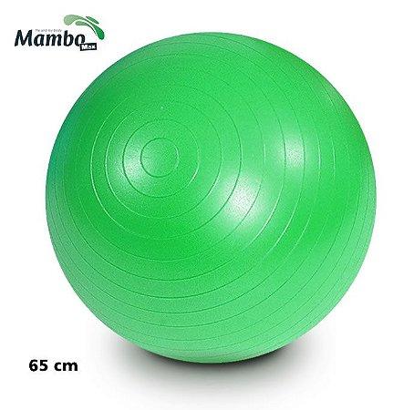 BOLA PARA EXERCÍCIOS GYM BALL 65 CM VERDE COM BOMBA MAMBO MAX