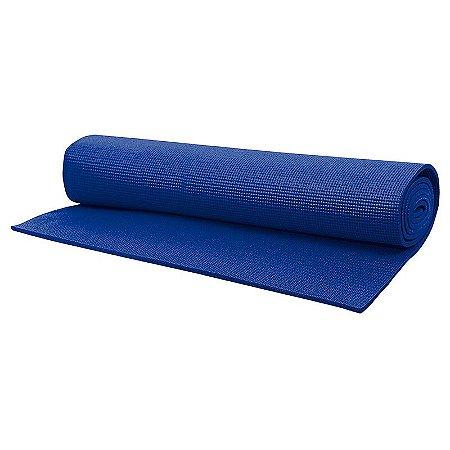Tapete Para Yoga Mat 172x61cm Azul Acte