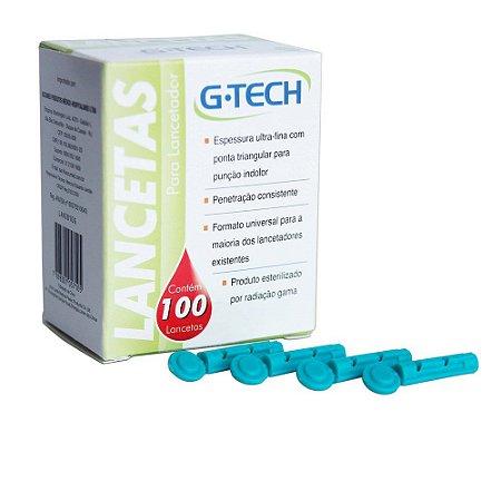 Lanceta Para Lancetador 28G CX C/ 100 Un. G-Tech