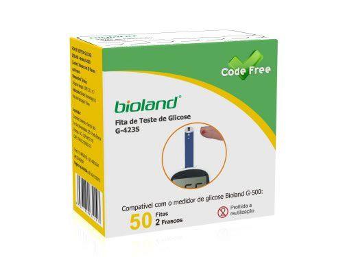 Tiras P/ Medição De Glicose C/ 50 Un. G-423S Bioland
