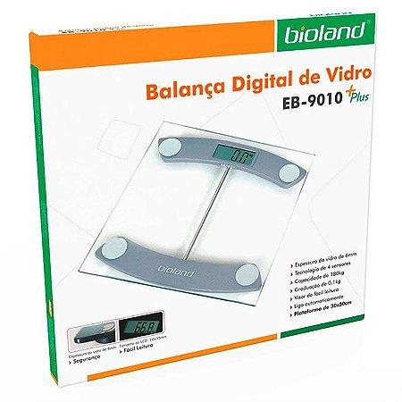 BALANÇA DIGITAL DE VIDRO 180KG EB9010+ PLUS BIOLAND