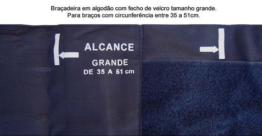 Aparelho De Pressão Grande Algodão Velcro Premium