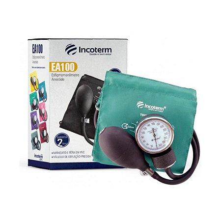 Esfigmomanômetro Aneróide EA100 Verde INCOTERM