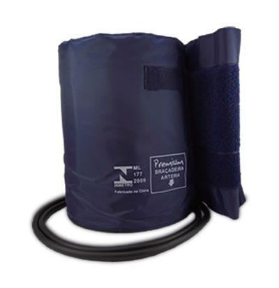 Braçadeira Grande Nylon C/ Velcro 2 Tubos P/ Esfigmomanômetro Premium