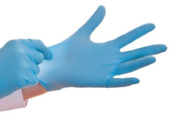 Luva Nitrílica Azul Sem Pó Tam. G C/ 100 Un. Descarpack