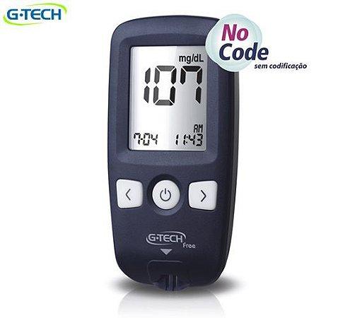 Kit Medidor De Glicose Free 1 C/ 10 Tiras G-Tech