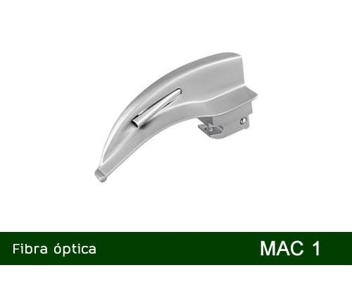 Lâmina Laringoscópio Fibra Óptica Curva Nº1 MD