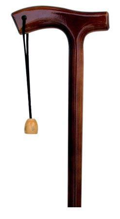 Bengala Madeira Tradicional Castanho Liso Cordão T03 Indaiá