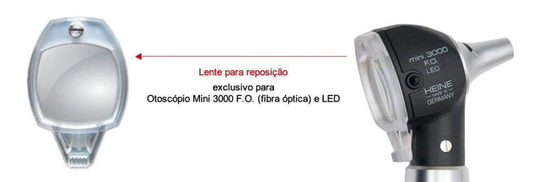 Janela/Lente P/ Otoscópio MINI 3000 Fibra Óptica Z-197.03.000 Heine
