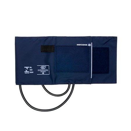 Braçadeira Adulto Grande Nylon Velcro BR3407Q Azul BIC