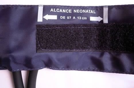 Braçadeira Nylon Fecho Velcro Neonatal 7 a 13cm Premium