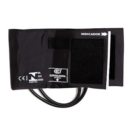 Braçadeira Plus Adulto Nylon Velcro BR2308Q Preta BIC