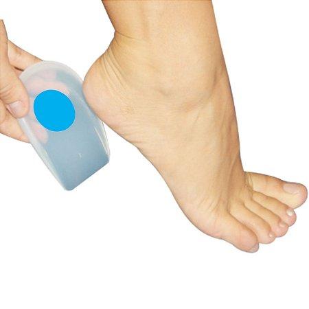 Calcanheira P/ Esporão De Silicone C/ Ponto Azul P Action Sport Ortho Pauher
