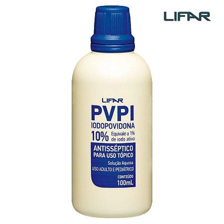 PVPI Iodopovidona Solução Aquosa 10% 100mL Lifar