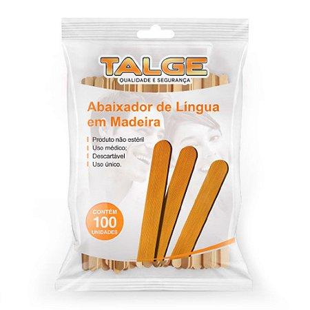 Abaixador De Língua PCT C/ 100 Un. Talge