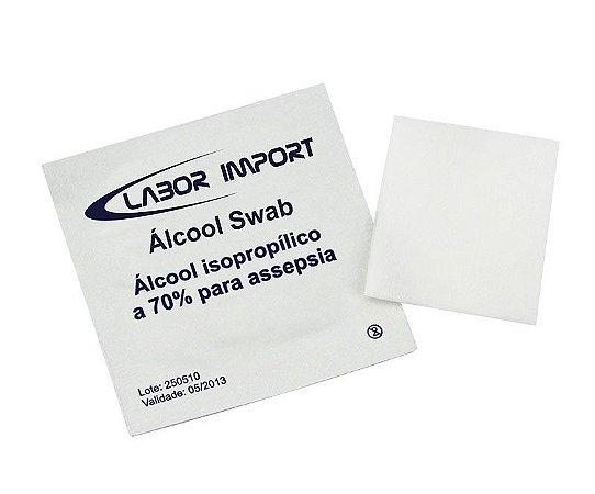 ÁLCOOL SWAB C/200UN LABOR IMPORT