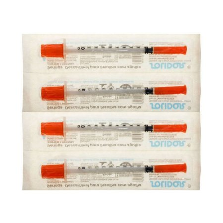 Seringa Insulina 1mL 100UI agulha 13x0,30mm 30G 1/2 Cx C/100UN SOLIDOR