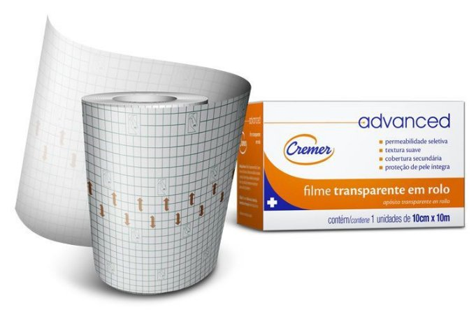 FILME TRANSPARENTE ROLO 10CMX10M ADVANCED CREMER