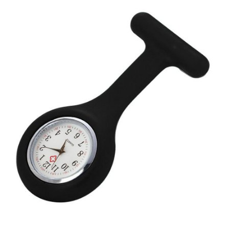 Relógio para Lapela Silicone Preto Supermedy