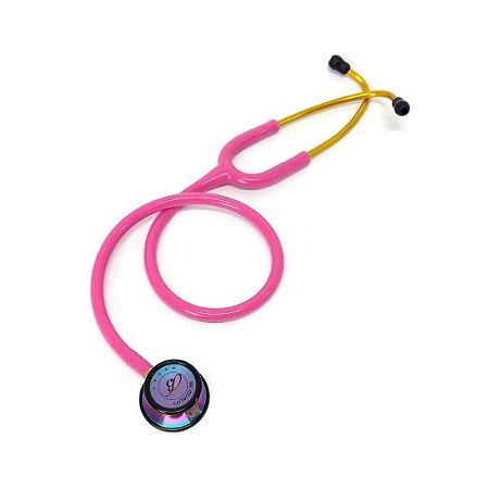 Estetoscópio Adulto Duplo Inox Rosa ES1506 BIC