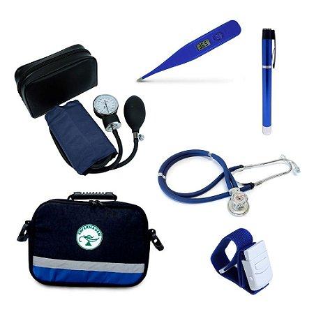 Kit Enfermagem Azul com Bolsa