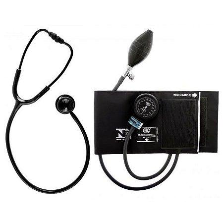Conjunto Esfigmomanômetro + Estetoscópio BLACK EDITION CJ0747 BIC