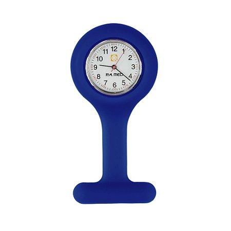 Relógio de Lapela Silicone Azul PAMED