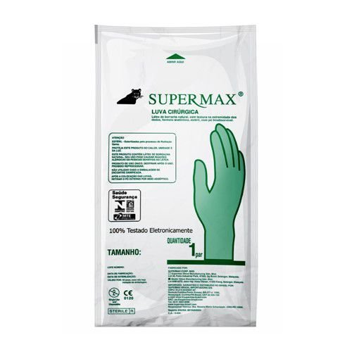 Luva Cirúrgica Estéril 8.0 PAR Supermax
