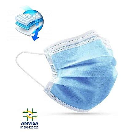 Máscara Cirúrgica Tripla com Elástico c/50un. HC400 Multilaser