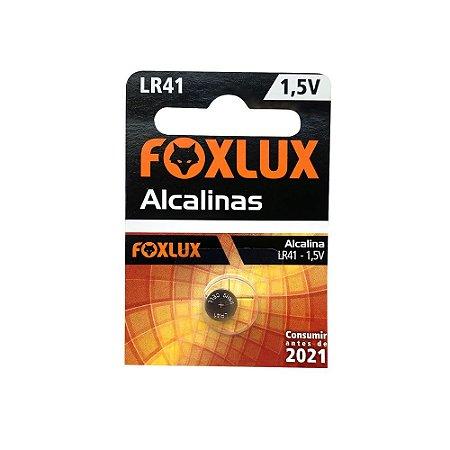 Bateria LR41 1,5V Alcalina c/1 Unidade FOXLUX