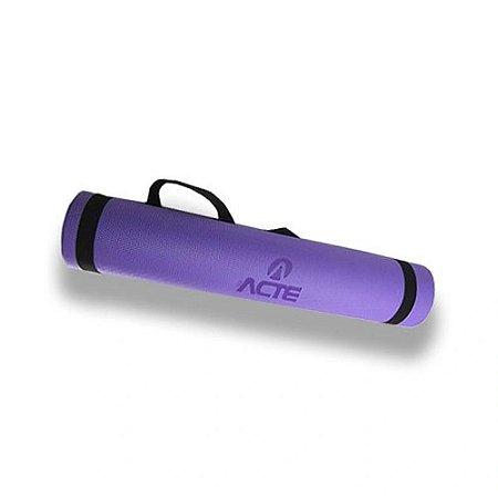 Tapete Yoga Mat 170x60cm EVA Lilás Acte